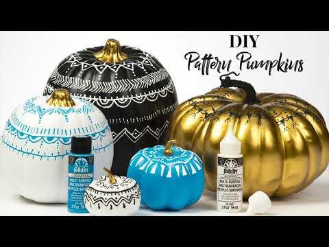 DIY Patterned Pumpkins