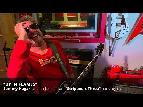 "Sammy Hagar improvs over Joe Satriani's ""Up In Flames"""