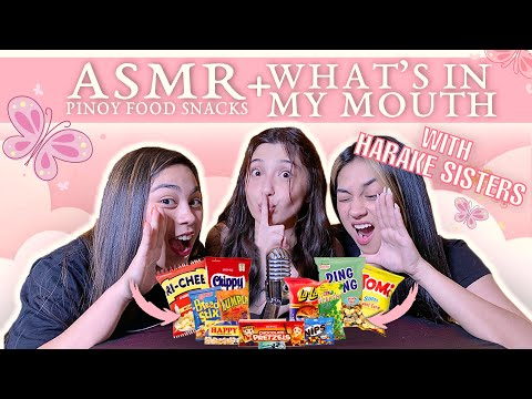 ASMR What's In My Mouth PINOY SNACKS ft. Zeinab and Rana Harake (Turn on CC for subtitles)