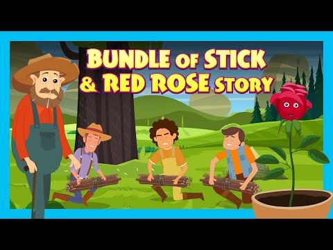 Bundle Of Stick & Red Rose Story | English Animated Stories For Kids | Traditional Story | Kids Hut