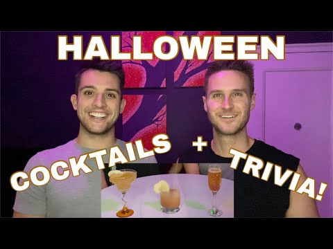 HALLOWEEN Cocktails & Trivia - Chris and Clay Vlog
