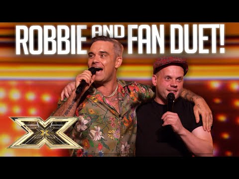 DREAMS DO COME TRUE! Robbie Williams sings 'Angels' with super fan Andy! | The X Factor UK