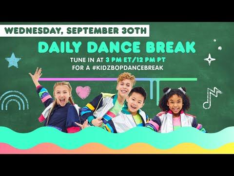 🔴 KIDZ BOP Daily Dance Break [Wednesday, September 30th]