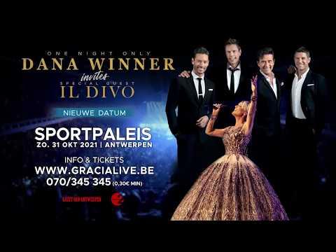 Dana Winner Invites Il Divo (new date) - Oct 31, 2021 - Sportpaleis Antwerpen (BE)