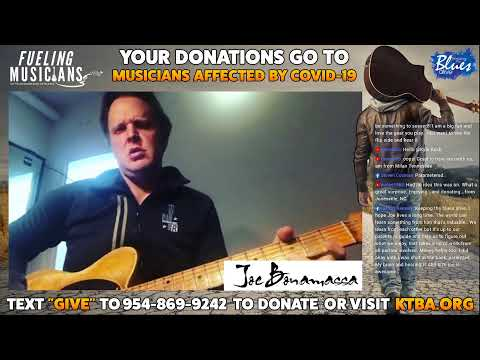 Joe Bonamassa Livestream for Fueling Musicians