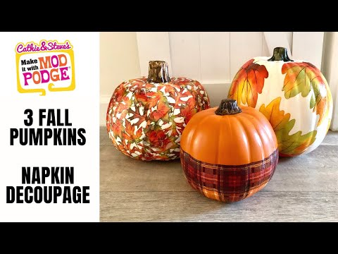 Fall Pumpkin Napkins