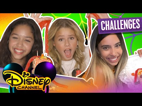 Ruth and  Ruby's Virtual Halloween Sleepover Challenges 🎃 | Scary Monster Candy 🍭 | Disney Channel