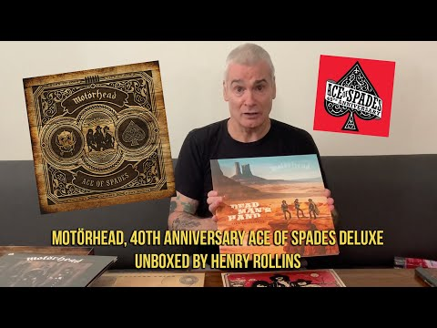 Motörhead, 40th anniversary Ace Of Spades deluxe unboxed by Henry Rollins