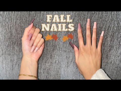 How I Do My Nails at Home! *no acrylic or damage* | Fall Nails 🍂