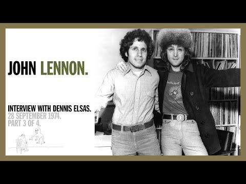 John Lennon interview with Dennis Elsas, 28 Sept 1974   Part 3 of 4