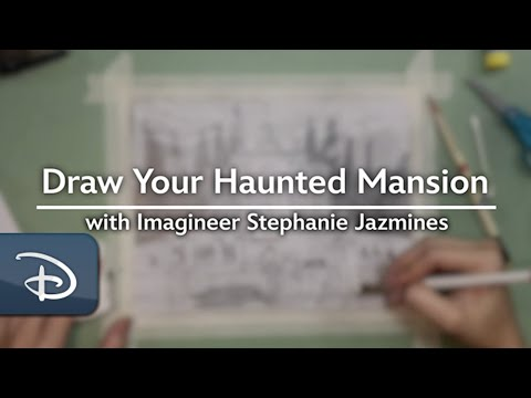 Learn to Draw a Haunted Mansion-Inspired Manor | #DisneyMagicMoments