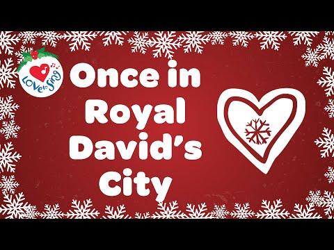 Once in Royal David's City with Lyrics 2020 | Christmas Song and Carol