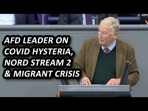 AfD leader speech on covid hysteria, nord stream, green energy and migrant crisis, English subtitles
