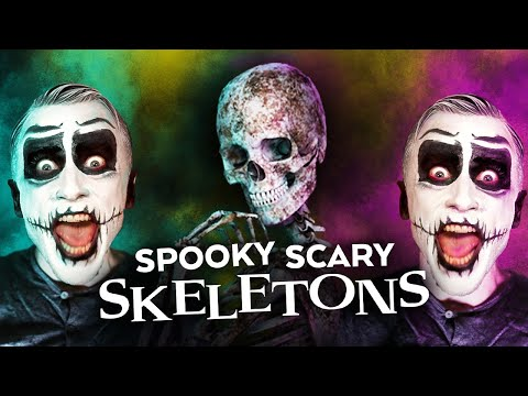 """Spooky Scary Skeletons"" Made with REAL HUMAN BONES!?"