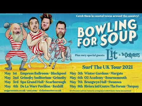 Bowling For Soup Surf The UK Tour 2021 On Sale Now!