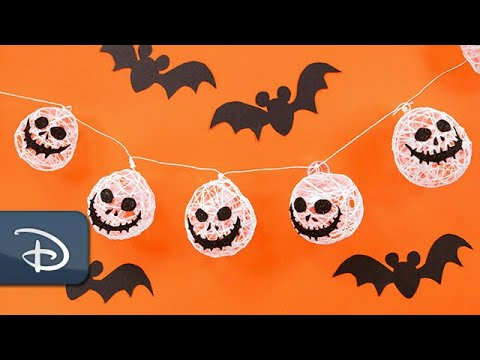 DIY Jack Skellington Garland | #DisneyHalloMoments