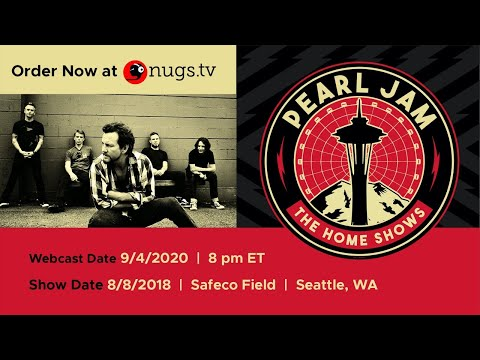 Pearl Jam live from Safeco Field 8/8/2018