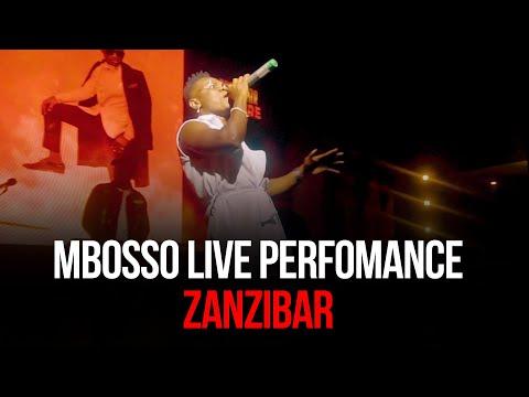 Mbosso live perfomance Zanzibar