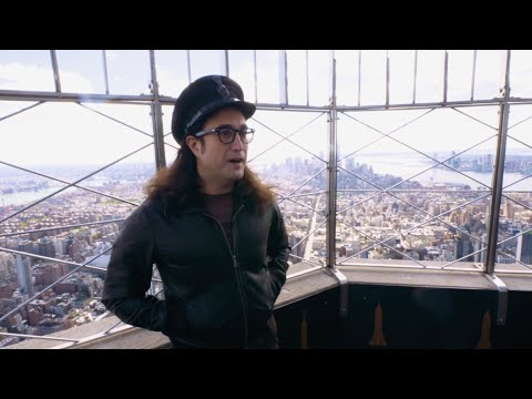 Sean Ono Lennon lit up the Empire State Building sky blue for John Lennon's 80th Birthday