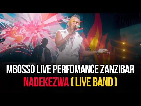Mbosso live perfomance Nadekezwa ( live Band ) Zanzibar