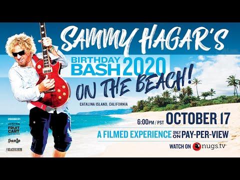 Sammy Hagar's Birthday Bash Streaming Concert Experience Oct 17, 2020 on Nugs.tv