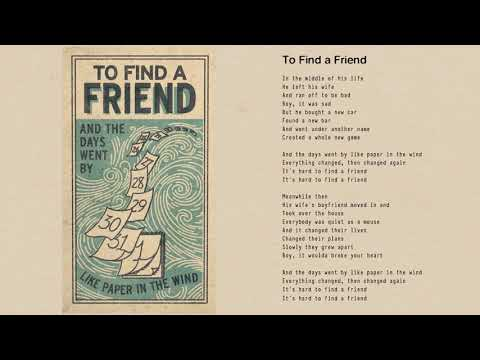 Tom Petty - To Find a Friend (Official Lyric Video)