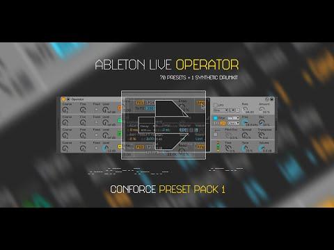 Ableton Live: Operator Preset Pack 1 | CONFORCE