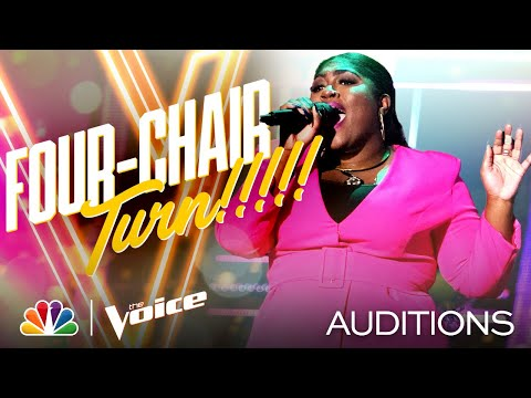 """Tamara Jade Performs Lizzo's """"Cuz I Love You"""" and Gets a Four-Chair Turn - The Voice Blind Auditions"""
