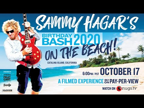 Sammy Hagar's Birthday Bash Preview: On The Beach at Catalina Island, CA