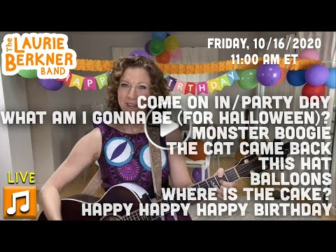 LIVE Berkner Break | October Birthday Party | Party Day,  Halloween, Cat, Monster, Balloons, Cake