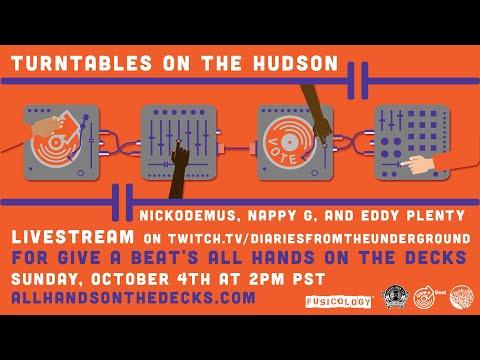 Turntables on the Hudson / Nickodemus LIVE stream DJ set fundraiser for giveabeat.org
