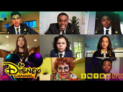 Family Video Conference Call 💻| Disney Channel Halloween House Party