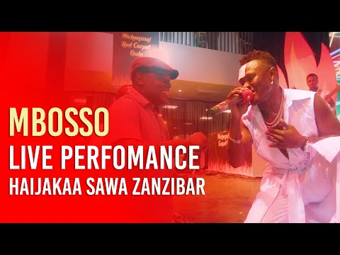 Mbosso live perfomance Haijakaa sawa Zanzibar