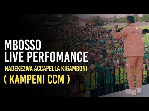 Mbosso live perfomance Nadekezwa accapella Kigamboni ( kampeni ccm )