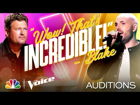 """Aaron Scott Rocks Out on Fuel's """"Hemorrhage (In My Hands)"""" - The Voice Blind Auditions 2020"""