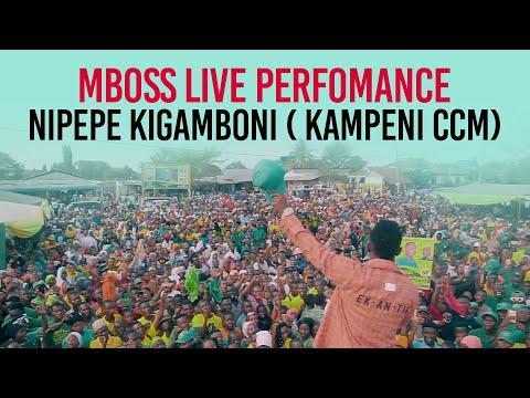 Mbosso live perfomance Nipepe Kigamboni ( kampeni ccm )
