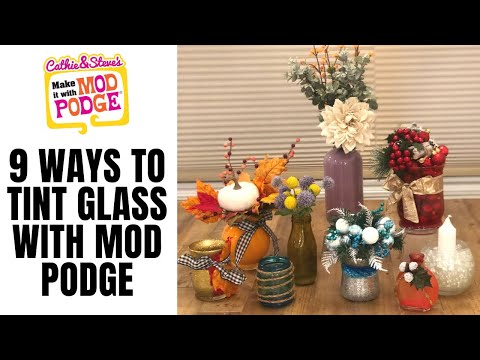 9 Seasonal Arrangements with Tinted Glass