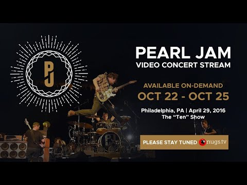 Pearl Jam Ten Show On Demand 10/22 to 10/25