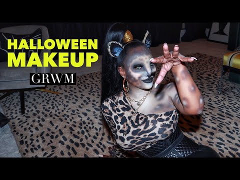 Get Ready With Me Halloween Cheetah Make Up