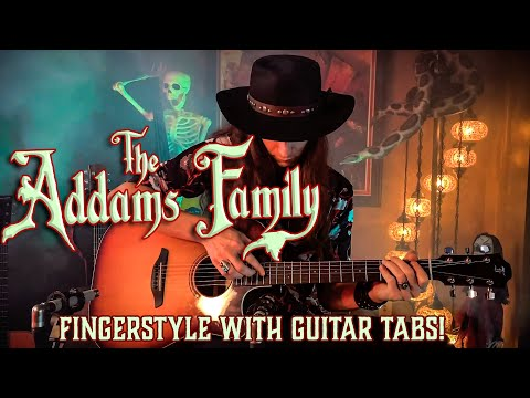 The ADDAMS FAMILY Theme • FINGERSTYLE GUITAR with TABS!