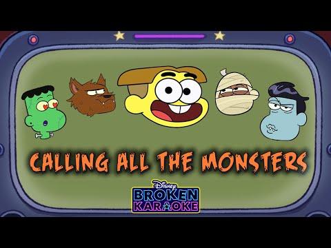 Calling All the Monsters Parody 🎃 | Lyric Video | Broken Karaoke | Disney Channel Animation