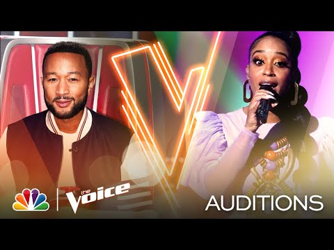 """Casmè's Powerful Voice Shines on Aretha Franklin's """"Baby I Love You!"""" - Voice Blind Auditions 2020"""