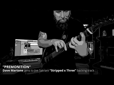 "Dave Martone jams to Joe Satriani's ""Premonition"" (Stripped x Three)"