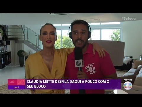 Claudia Leitte conversa com o 'Se Joga' antes de desfilar no Carnaval de Salvador 2020