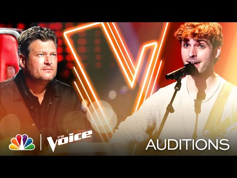 "Sam Stacy's Intimate Performance of James Taylor's ""Fire and Rain"" - The Voice Blind Auditions 2020"
