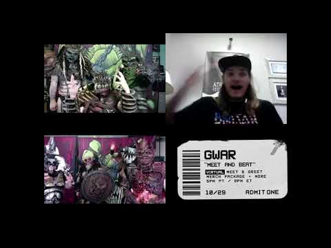 GWAR Meet & Beat VIP experience Thursday October 29th