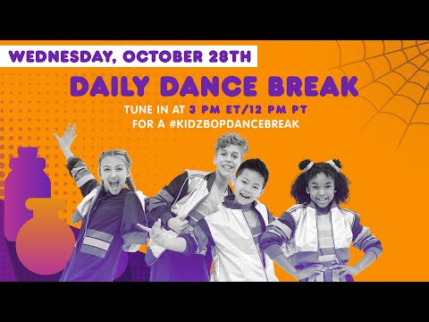 🎃 KIDZ BOP Daily Dance Break - HALLOWEEN EDITION [Wednesday, October 28th]