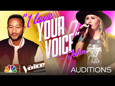 "Bailey Rae Nails Lee Ann Womack's ""Does My Ring Burn Your Finger"" - The Voice Blind Auditions 2020"