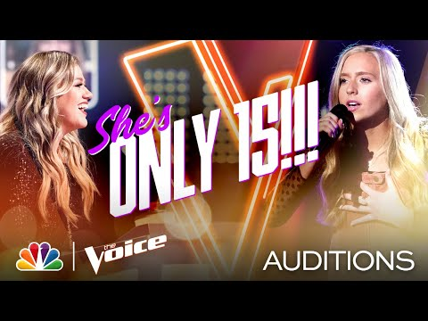 """Skylar Alyvia Mayton Is 15 and Shines on The Weeknd's """"Blinding Lights"""" - Voice Blind Auditions 2020"""