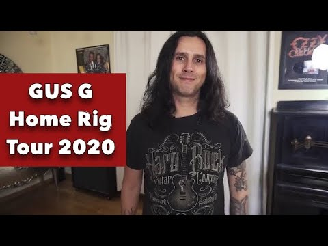 Gus G home rig tour 2020 (new guitars, amp & pedal collection)